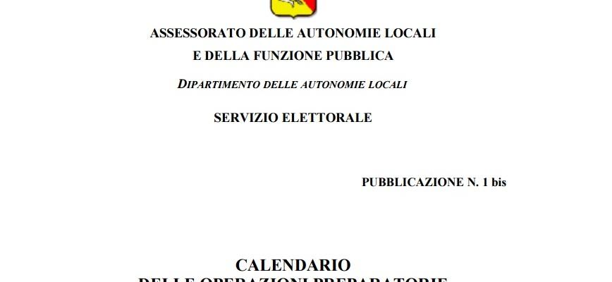 Calendario Elezioni.Calendario Delle Operazioni Preparatorie Per Le Elezioni